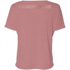 Low Key Slouchy Tee - Rose Gold