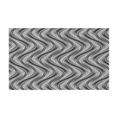 Silver Abstract Dobby Mat