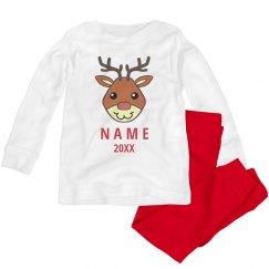 Custom Reindeer Pajama Set