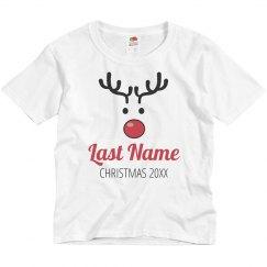 Custom Kids Rudolph Family Pajamas