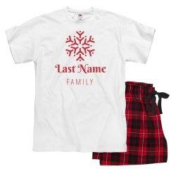 Snowflake Matching Family Pajamas