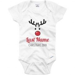 Cute Reindeer Family Pajama Onesie