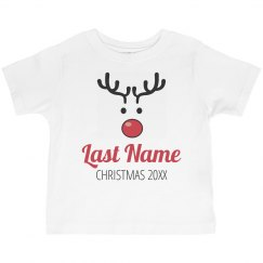 Reindeer Family Pajamas Toddler Tee