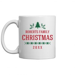 Family Christmas Custom Gift Mug