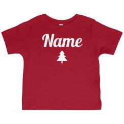 Toddler Custom Name Xmas Pajamas