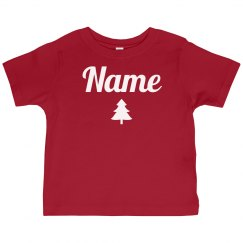 Toddler Custom Name Xmas Pajamas