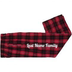 Kids Flannel Matching Xmas Pants