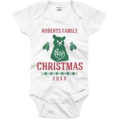 Baby Xmas Bear Pajamas