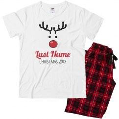 Reindeer Matching Xmas Pajamas