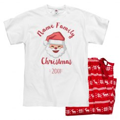 Family Matching Santa Jammies For Dad