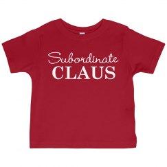 Subordinate Claus Toddler PJ Tee
