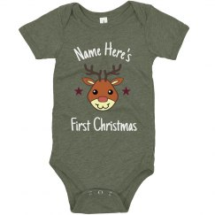 Custom Reindeer First Christmas