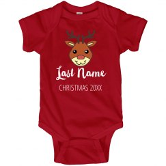 Custom Name Family Reindeer Christmas
