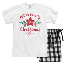 Custom Family Christmas Flower PJs