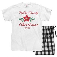 Custom Family Christmas Flower PJs