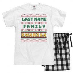 Last Name Womens Kwanzaa Pajamas