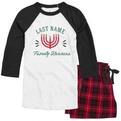 Last Name Custom Kwanzaa Pajamas