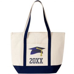 Graduation Tote Bag Navy