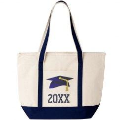 Graduation Tote Bag Navy