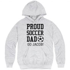 PROUD SOCCER DAD CUSTOM TEXT