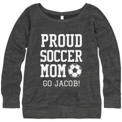 PROUD SOCCER MOM CUSTOM TEXT