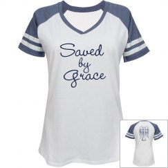 Saved by Grace V-neck Tee