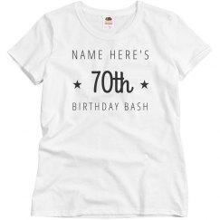 Customizable 70th Birthday Bash