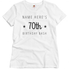 Customizable 70th Birthday Bash