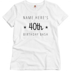 Personalize A 40th Birthday Design
