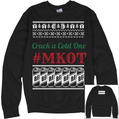 Crack a Cold One Xmas Sweater #MKOT