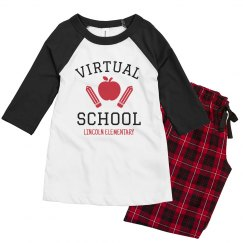 Virtual School Custom Youth Pajamas