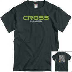 CROSS-tee-BW forest on back
