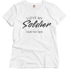 Simple Custom I Love My Solider