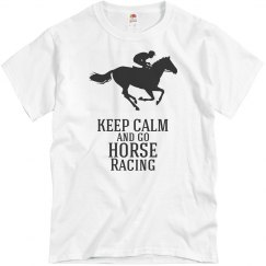 keep calm-go horse racing