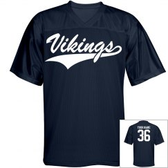 Vikings custom name and number sports jersey