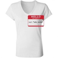 Ladies Slim Fit V-Neck Jersey Tee