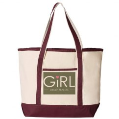 GiRL Large Canvas Tote