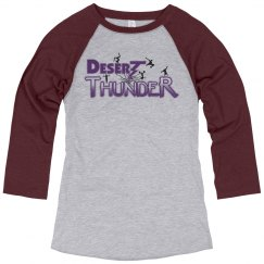 Purple Raglan Sleeve Ladies Shirt