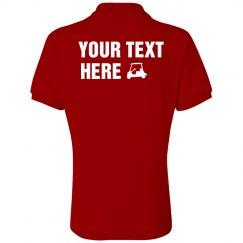 Golf Shirt Back - Ms. Red