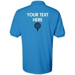 Golf Shirt Back - Mr.Blue