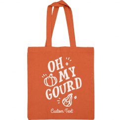 Oh My Gourd Fall Pumpkin Tote Bag