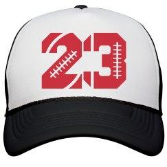 Trendy Football Girlfriend Custom Numbers Hat