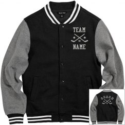 Personalized Hockey Coach Fleece Varsity Jacket