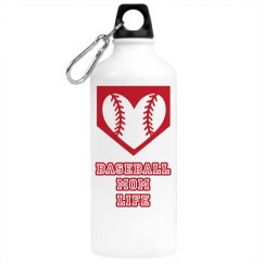 Baseball Mom Life Water Bottle