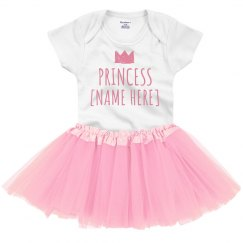 Custom Princess Name Tutu Bodysuit