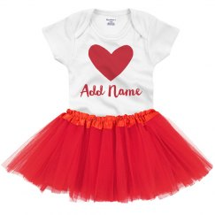 Custom Name Valentine's Day Tutu