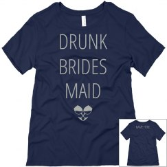 Custom Wine Drunk Bridesmaid