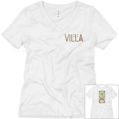Villa 2-Sided LADIES RELAXED FIT V-NECK TEE