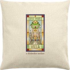 Villa Logo Throw Pillow Cover