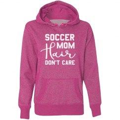 Soccer Mom Hair Glitter Hoodie